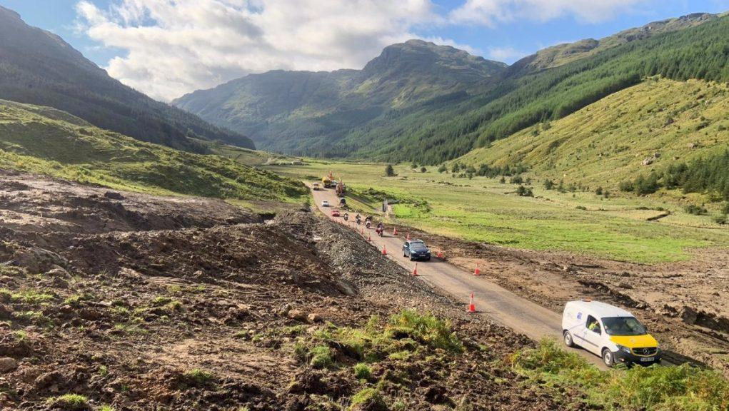 Clean-up: The Old Military Road diversion route is open.