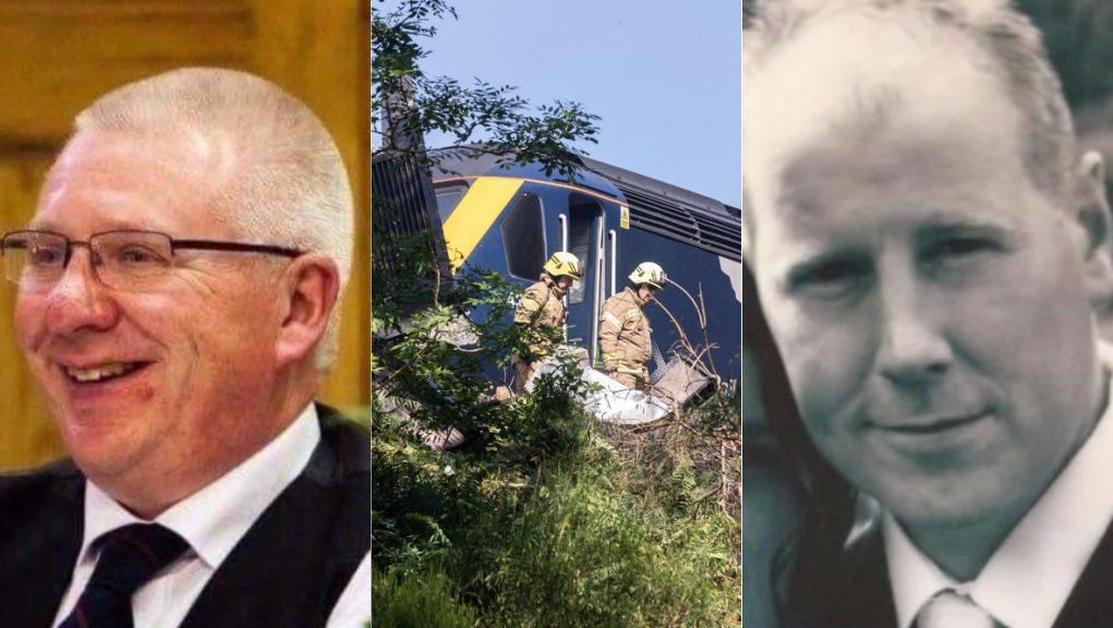 Train conductor Donald Dinnie, left, and driver Brett McCullough died in the derailment.