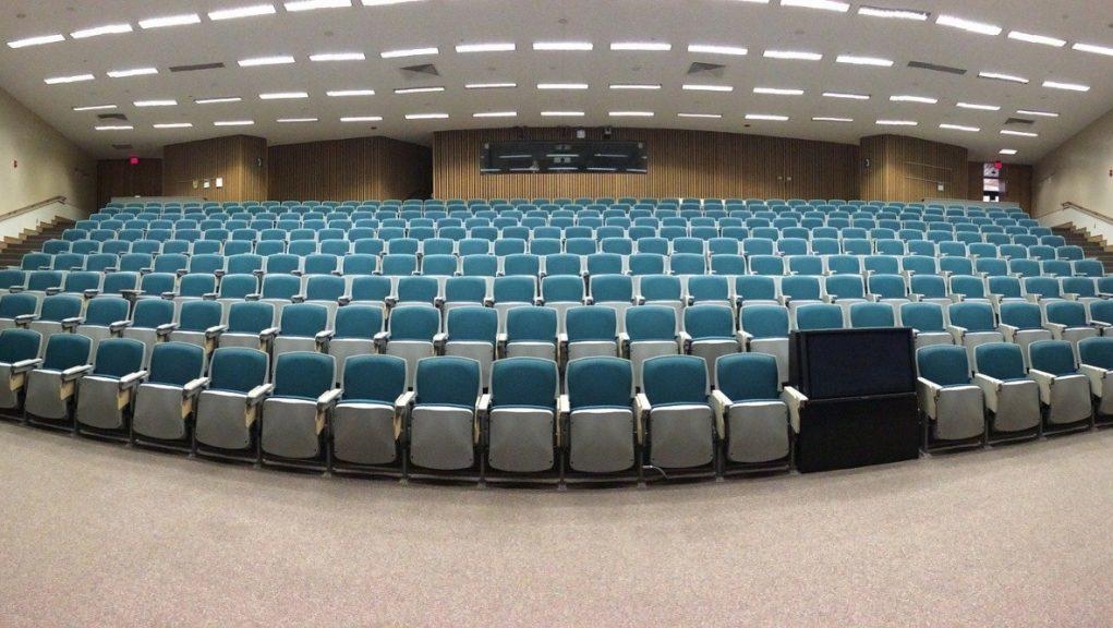 Learning: Alastair Sim said universities won't see students sitting next to each other in a big lecture hall.