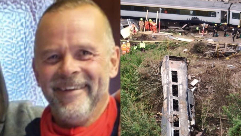 Tribute: Christopher Stuchbury was killed after a train derailed near Stonehaven.