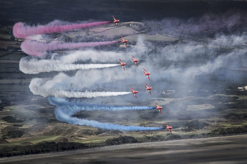 Red Arrows: A flypast will take place to commemorate Victory in Japan Day.