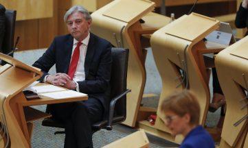 Richard Leonard Nicola Sturgeon May 2020 file pic.