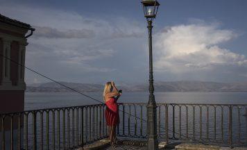 Tourist in Corfu Greece good generic for quarantine air bridges coronavirus