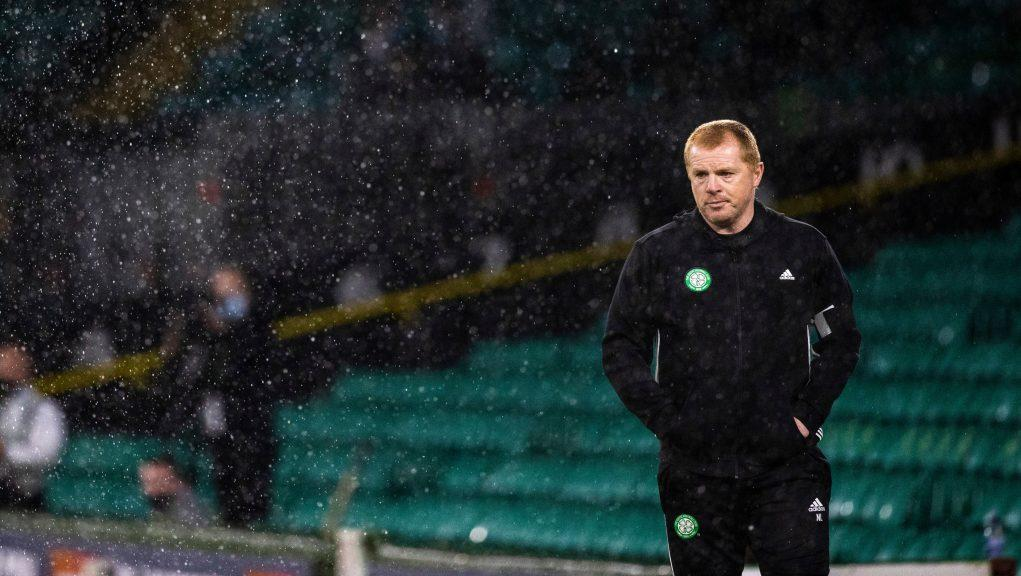 Lennon is disappointed Celtic Park is still empty.