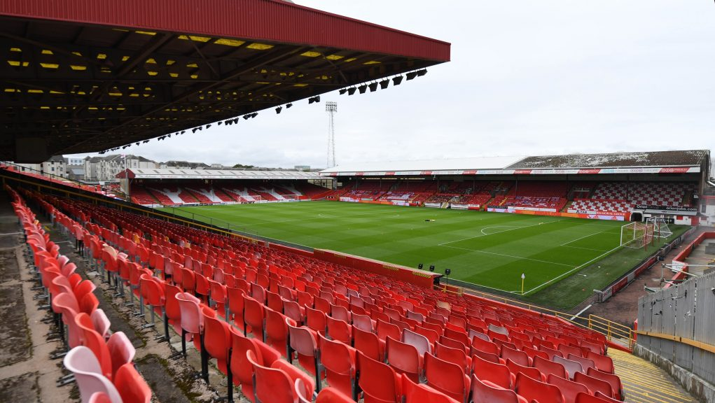 Pittodrie was organised to admit 300 supporters in a pilot event.