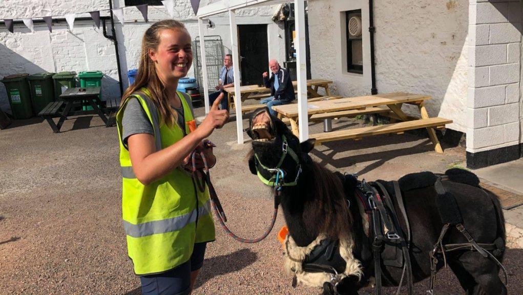Leuchars: Johanna Maria and pet pony Hechizo set off from Germany in February.