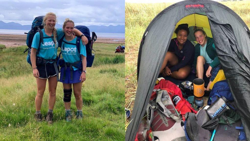 Friends: Nina Young was joined by Lunjika Nyirenda and Jessie Brown on the adventure.
