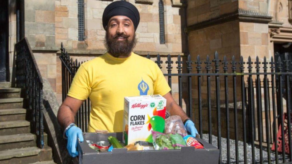 Volunteer: Charandeep Singh in Glasgow.