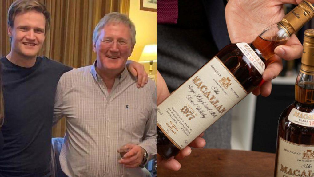 Celebration: Pete Robson bought his son Matthew a bottle every year for his birthday.