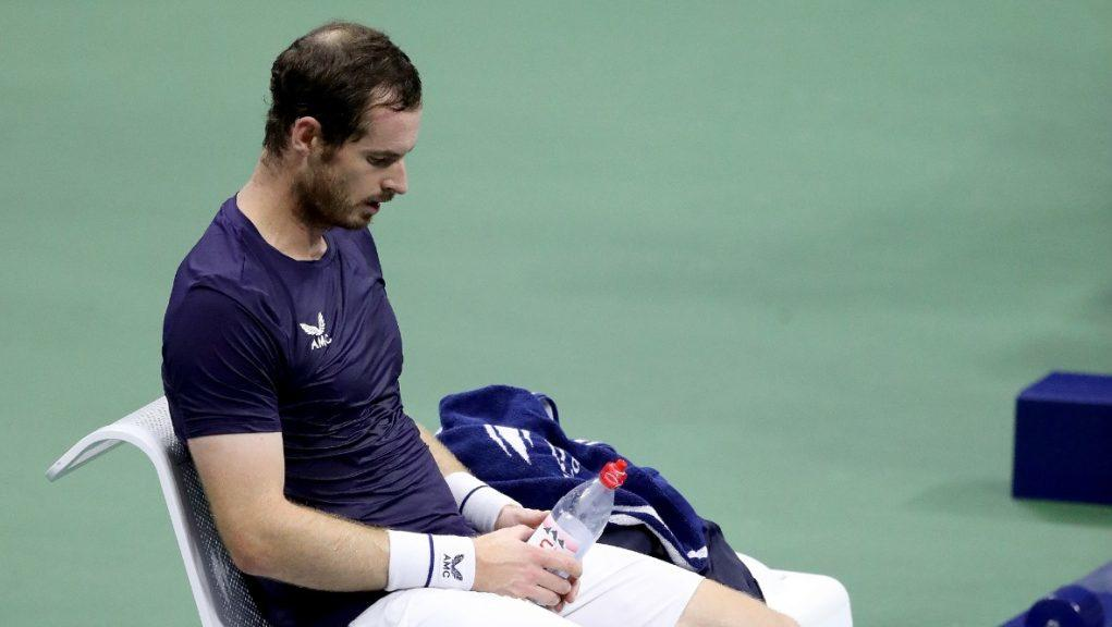 Defeat: Andy Murray bows out in the second round.
