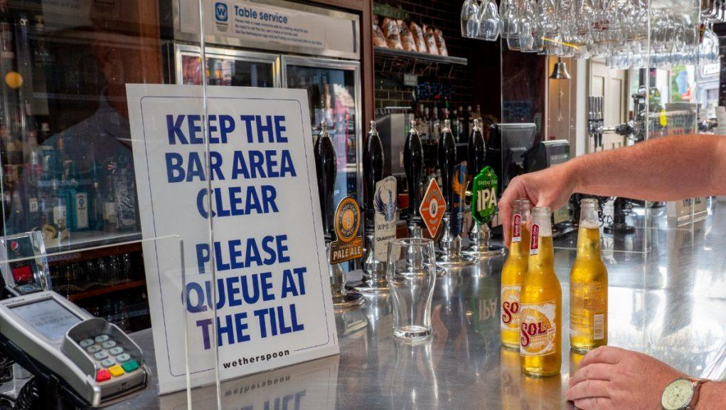 Wetherspoons says it experienced a 'very quiet' weekend.