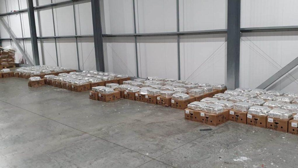 Cocaine was found within a consignment of fruit.