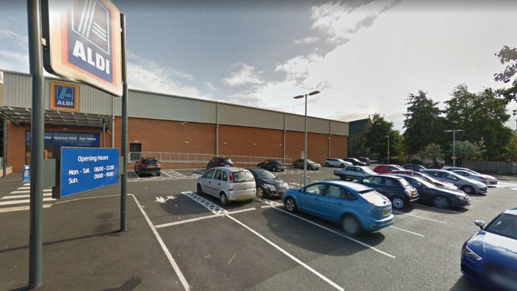 Man was attacked outside supermarket in Ayr.