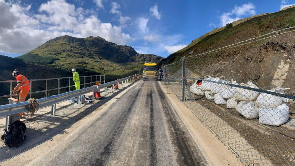 Overnight closure: The A83 Rest and Be Thankful reopened this week after repairs.