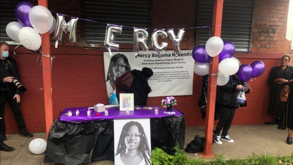 Tribute: Mercy Baguma's body was found in a Glasgow flat in August.