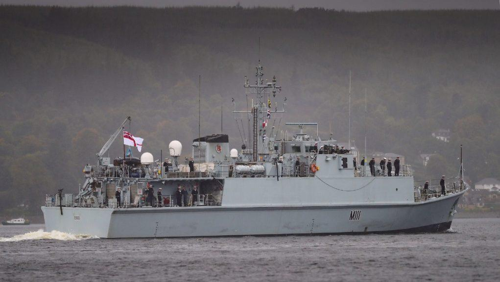 HMS Blyth: The minehunter returned to HM Naval Base Clyde. Picture by Royal Navy