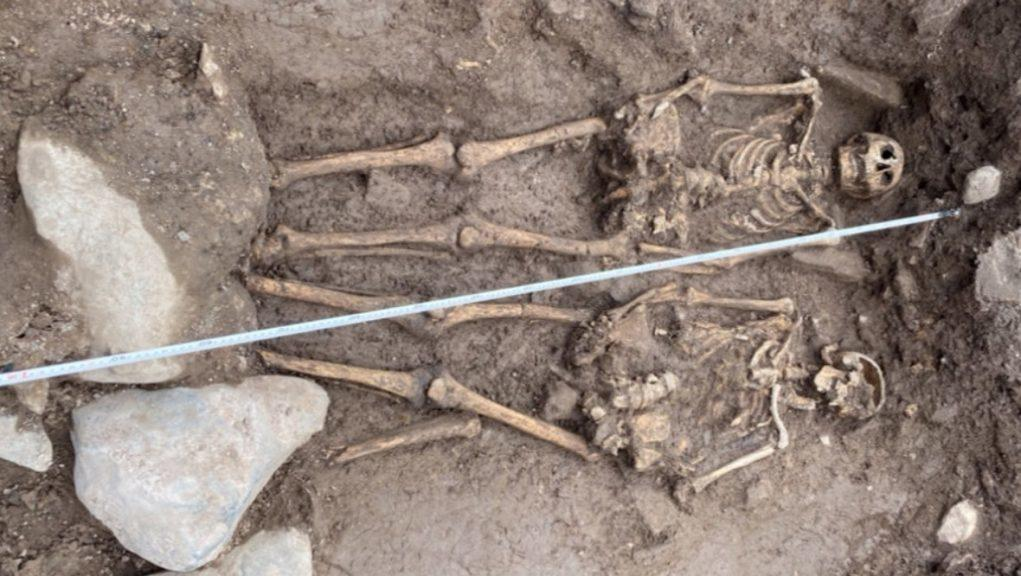 Discovery: Two skeletons found near Jedburgh Abbey.