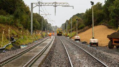 Edinburgh to Glasgow railway line.