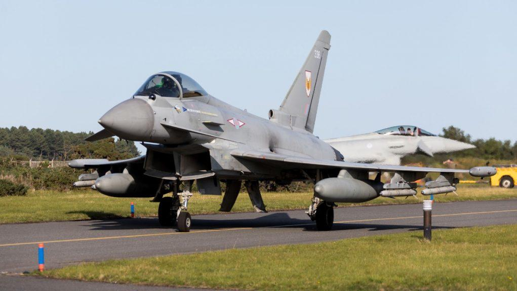 Defence: The RAF fighter jets intercepted the Russian aircraft. Picture by the Royal Air Force