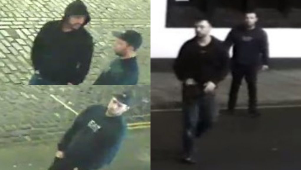 CCTV: Police want to track down the two men pictured.