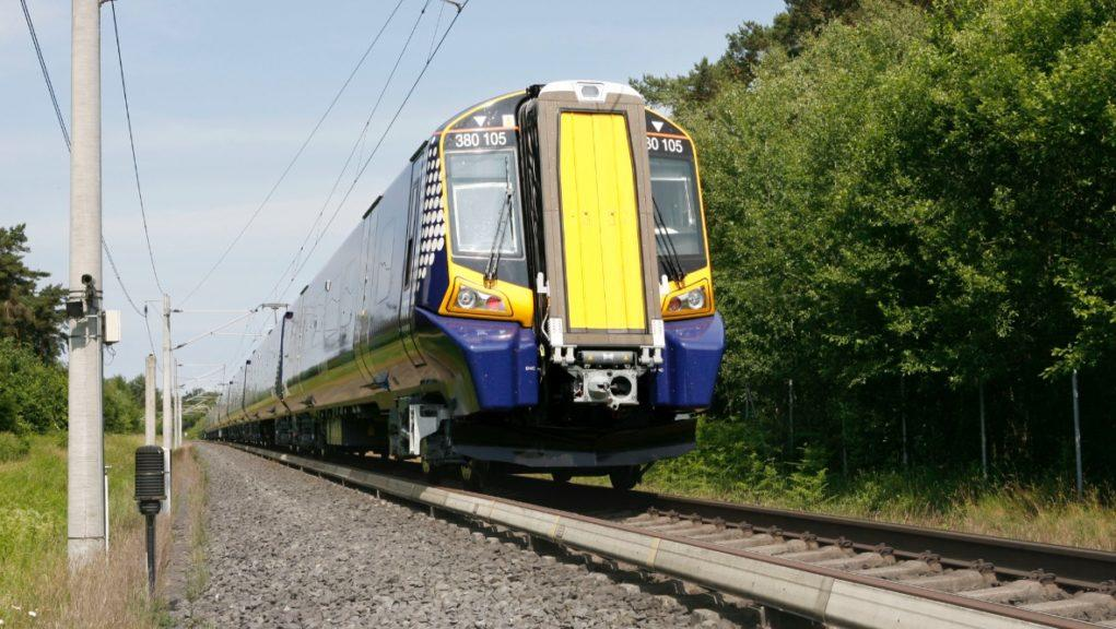 The alcohol ban on ScotRail services comes into force on Monday.