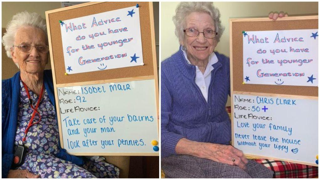 Advice: Care home residents offer their top tops for a happy life.