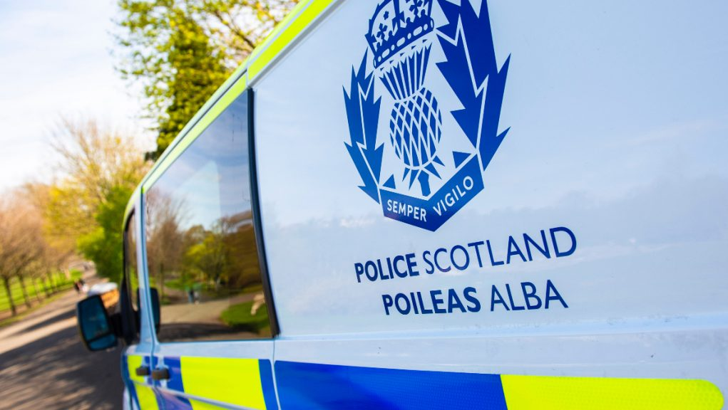 Robbery: Glasgow bank targeted.