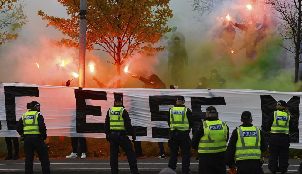 Pyrotechnics: Police 'disappointed in behaviour of minority of fans'.