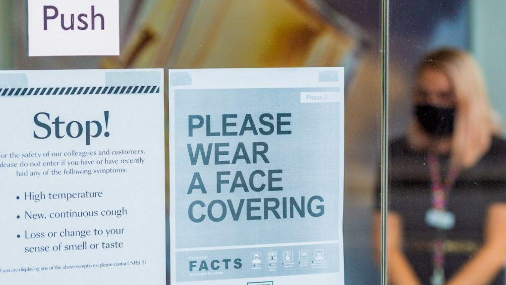 Face coverings: A card scheme is being developed for those who are exempt from wearing one.