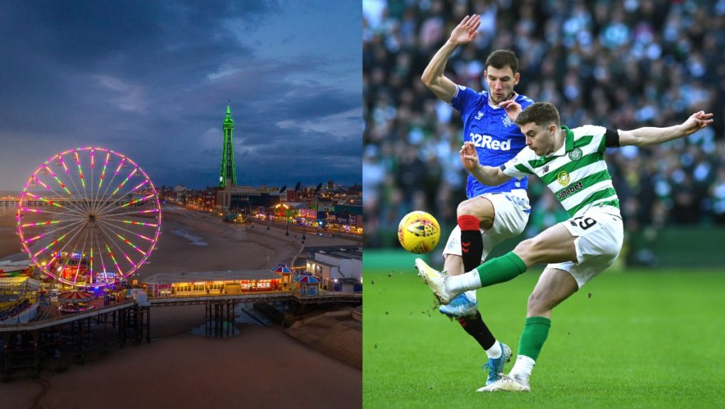 Old Firm fans are being urged not to travel to Blackpool.