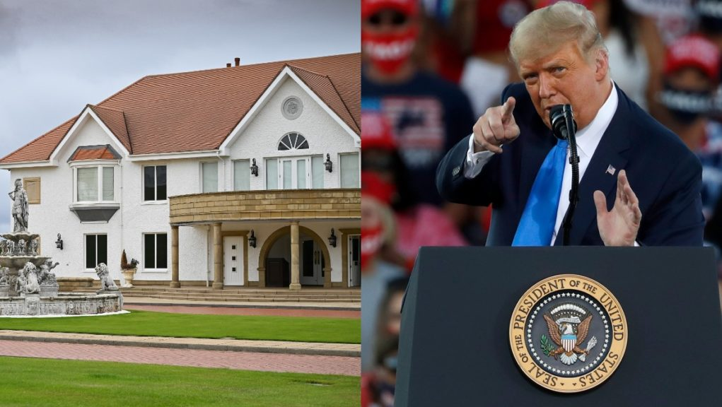 US President Donald Trump owns the Turnberry golf resort in Ayrshire.