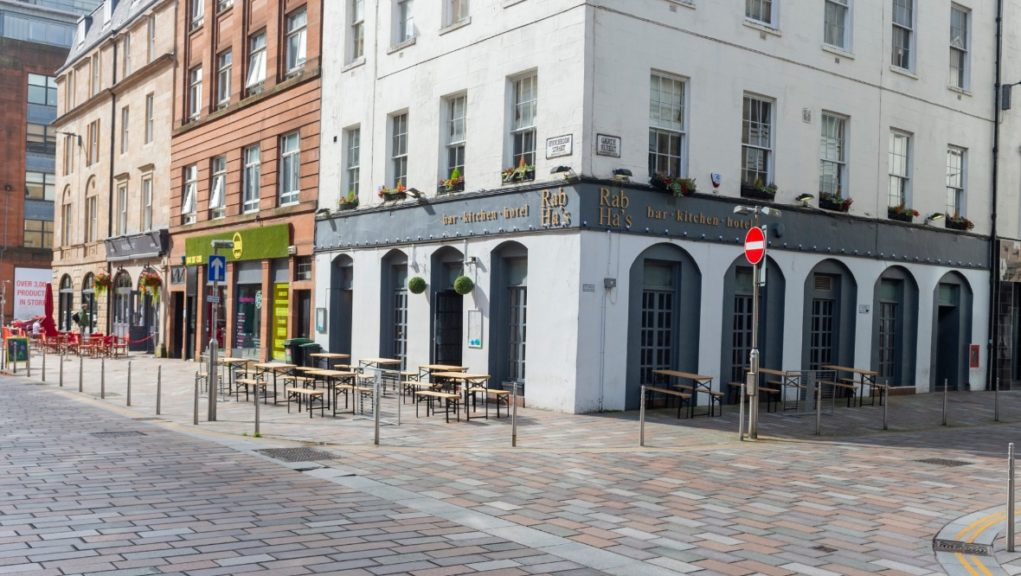 Pubs and restaurants are closed across Scotland's central belt.