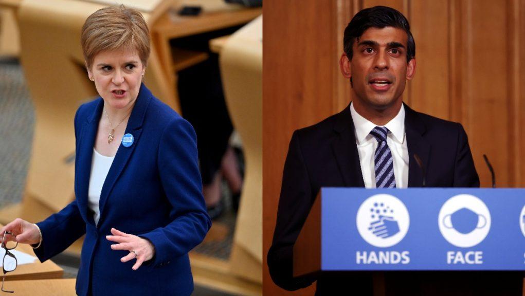 Nicola Sturgeon has criticised Chancellor Rishi Sunak's latest support announcement.