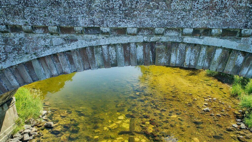 Ancrum Bridge has been hidden beneath the waters of the River Teviot for centuries.
