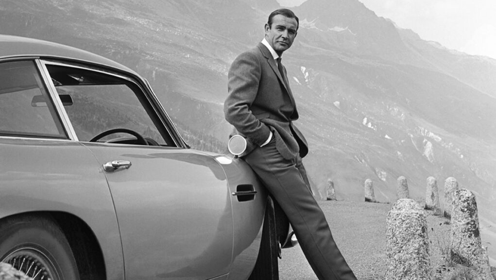 Sir Sean Connery in the 1964 Bond film Goldfinger.
