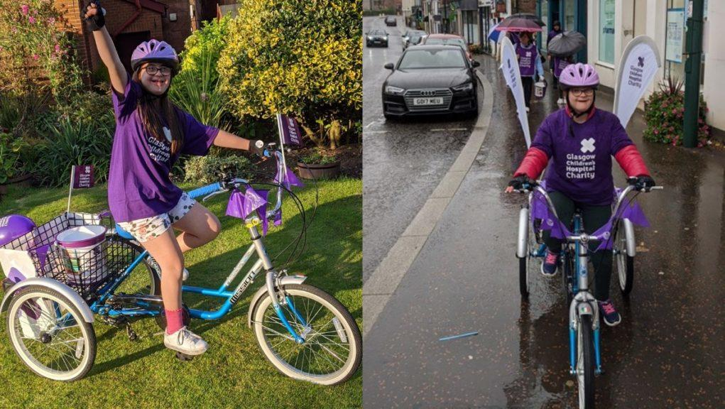 Pedal power: Angela Clemente has pledged to raise money for Glasgow Children's Hospital Charity.