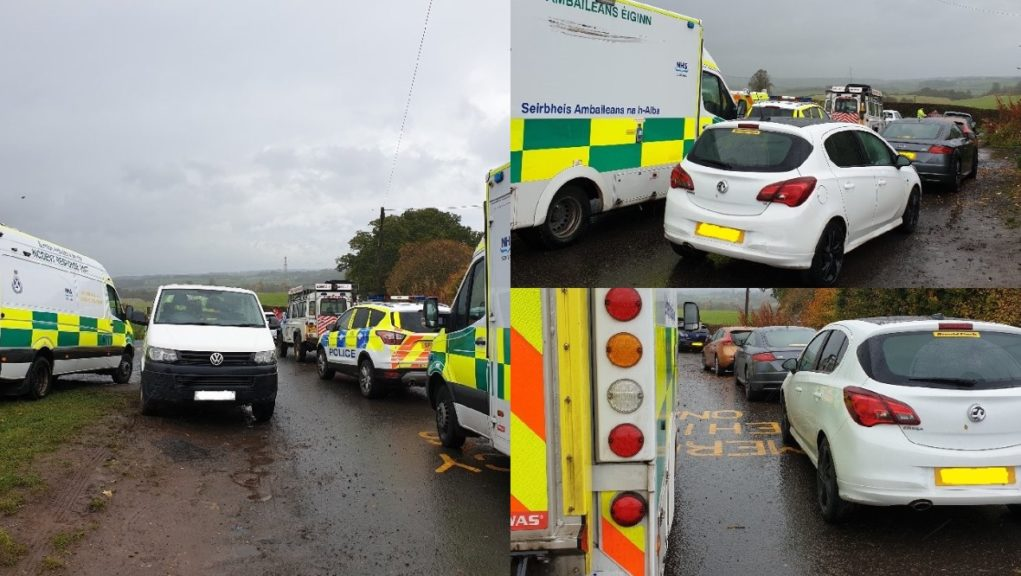 Finnich Glen: Police said 'inconsiderate' motorists parked in emergency lay-bys.