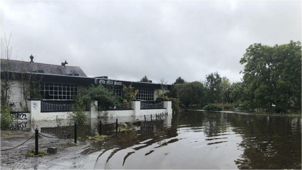 Flooding: Hotel near River Dee.