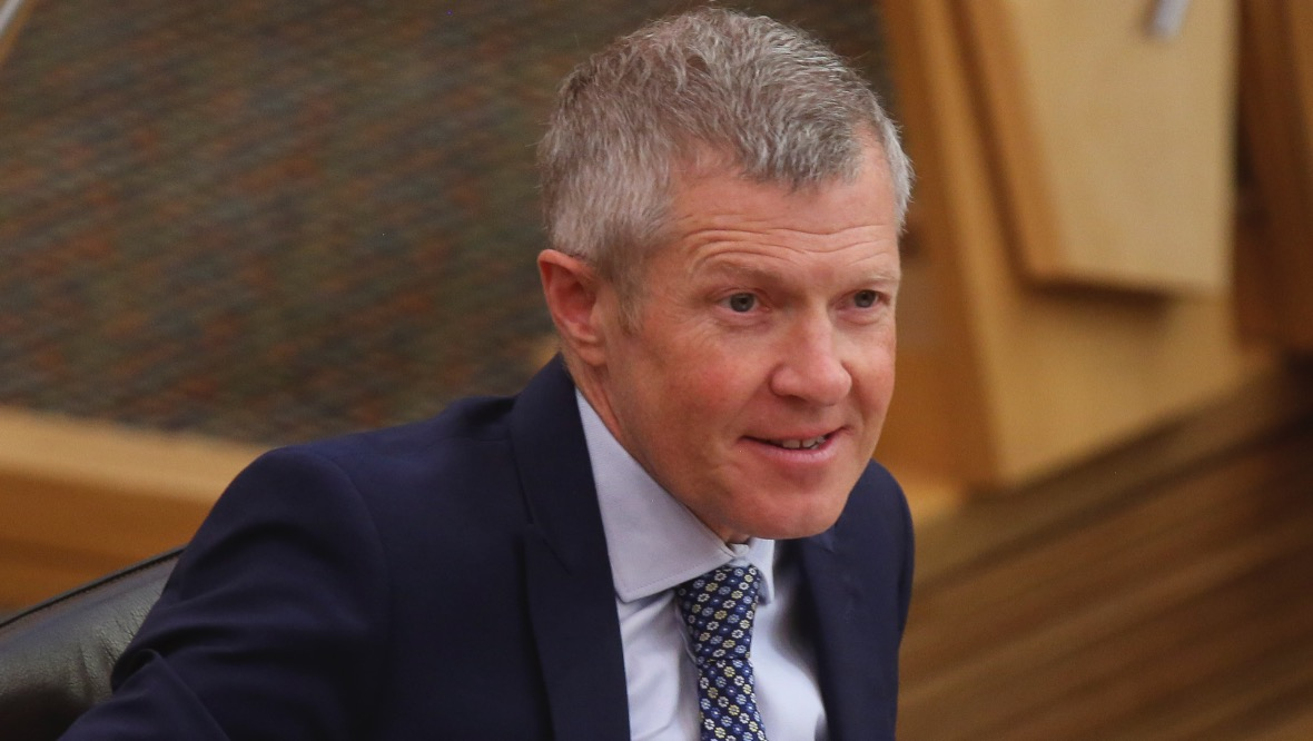 EDINBURGH, SCOTLAND - JUNE 10: Willie Rennie, MSP Scottish Liberal Democrat Leader, attends First Ministers Questions at Holyrood on June 10, 2020 in Edinburgh, Scotland. (Photo by Fraser Bremner-Pool/Getty Images)