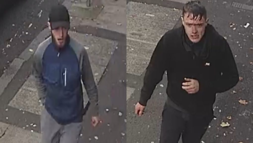 CCTV: Police want to track down the men pictured.