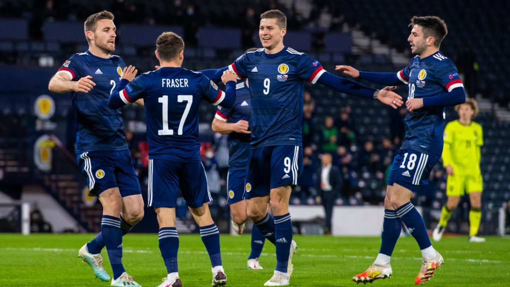 Scotland scored early in their Nations League win.