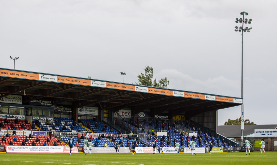 Fans return: Ross County had a successful test event with fans against Celtic in September.