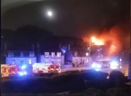 Fire: Blaze at school building. (Fubar News)