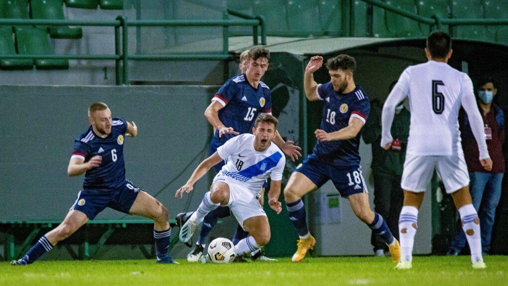 Scotland were beaten 1-0 in Athens.