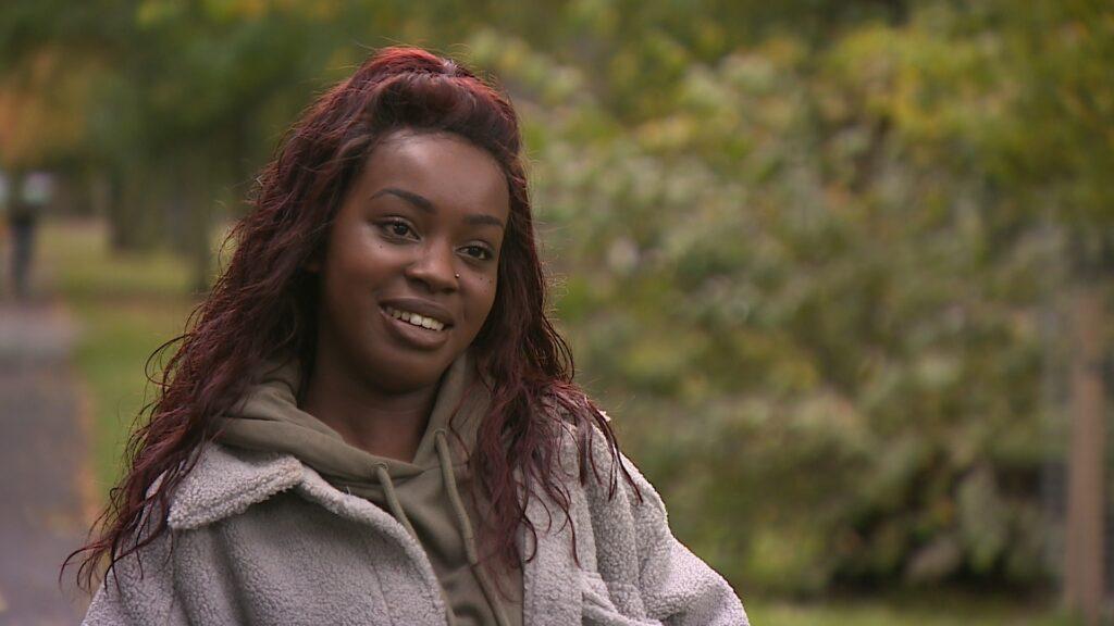 Bethina Iradukunda said she was racially abused at school in Edinburgh.