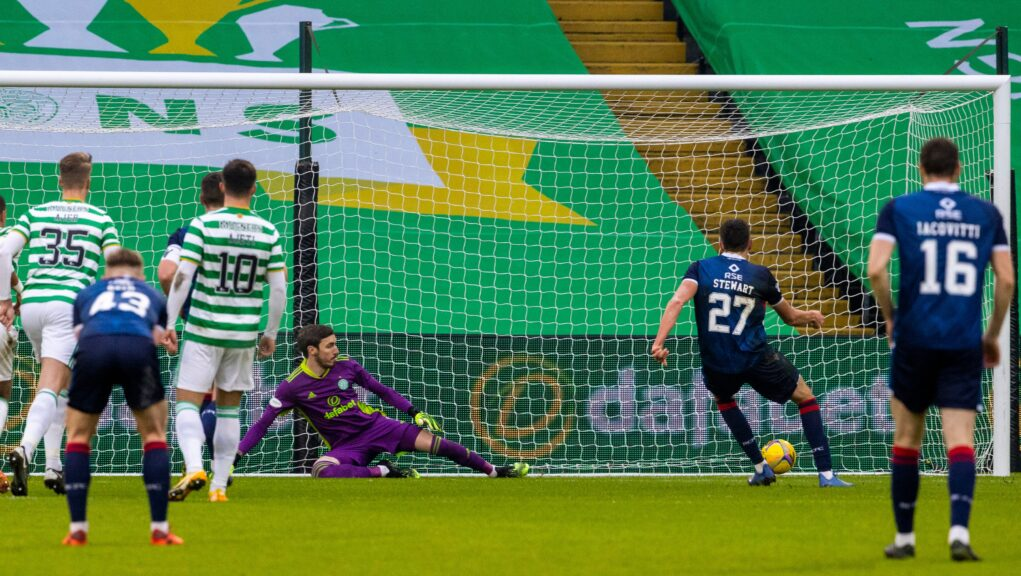 Ross Stewart put Ross County ahead from the penalty spot.