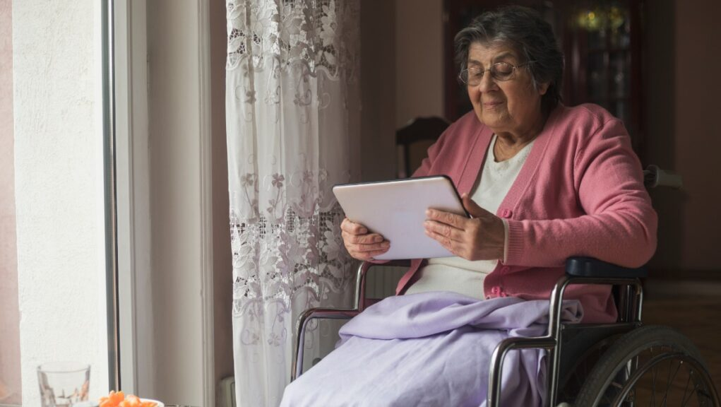 Funding has been announced for tablets in care homes.