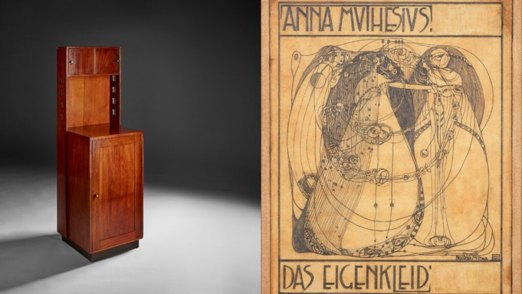 Works: The cabinet and drawing by members of the Glasgow Four.