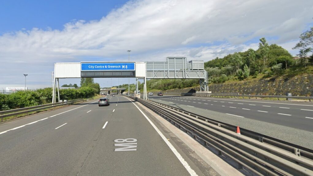 Motorway: The man was killed while walking along the M8.