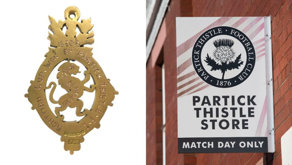 Partick Thistle 1921 Scottish Cup medal is going up for auction.